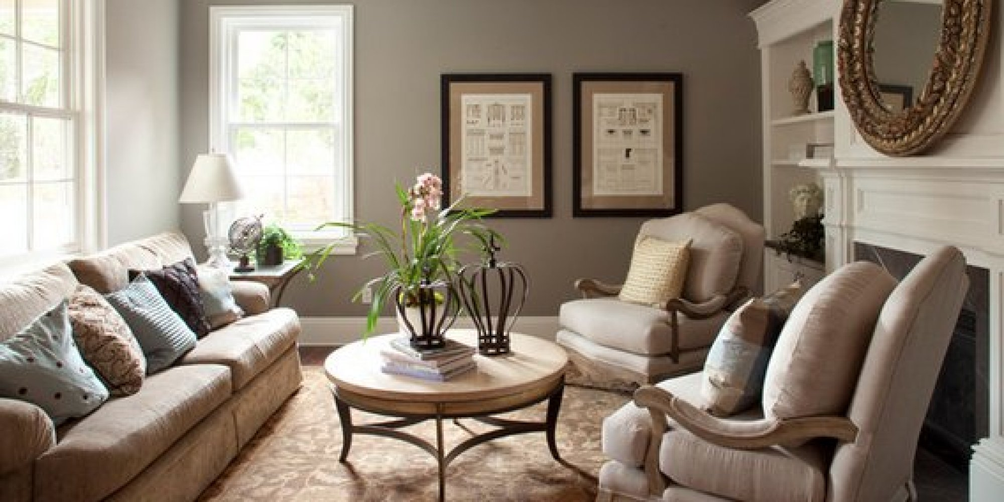 Popular Living Room Paint Colors The 6 Best Paint Colors That Work In Any Home  Huffpost