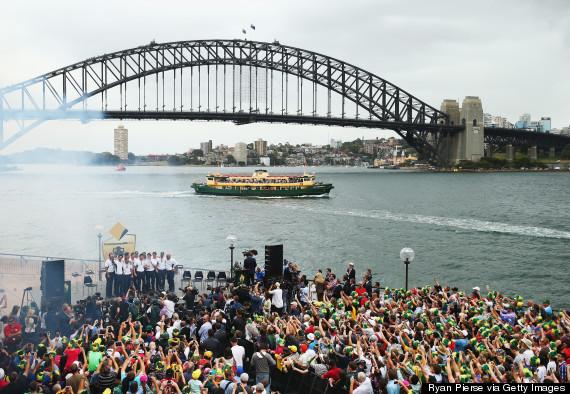 australia celebrate ashes
