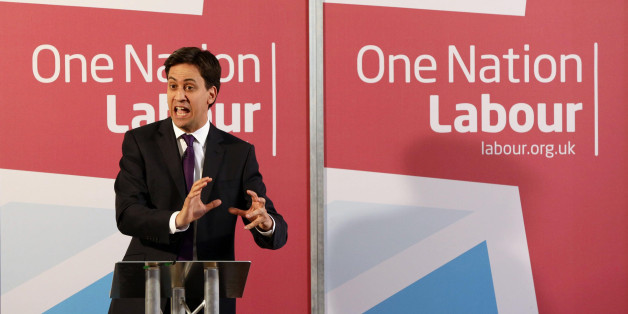 Ed Miliband delivering a speech on One Nation Politics, at The St Bride Foundation in Fleet Street, London.