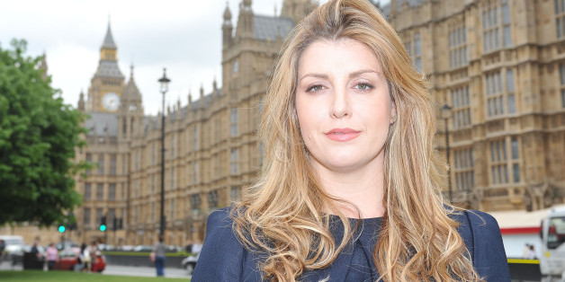 Conservative MP for Portsmouth North, Penny Mordaunt outside the Houses of Parliament in central London.