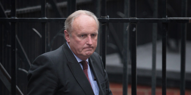 LONDON, ENGLAND - FEBRUARY 06:  Paul Dacre, editor of The Daily Mail, arrives to give evidence to the Leveson Inquiry at The High Court on February 6, 2012 in London, England. The inquiry is being led by Lord Justice Leveson and is looking into the culture, practice and ethics of the press in the United Kingdom. The inquiry, which will take evidence from interested parties and may take a year or more to complete, comes in the wake of the phone hacking scandal that saw the closure of The News of