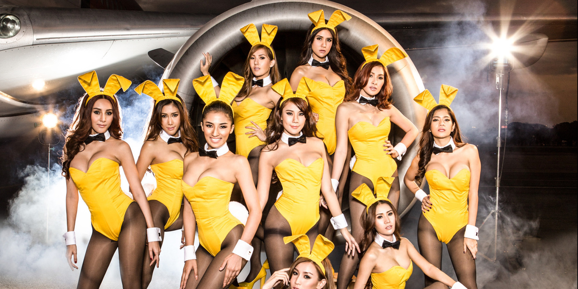 nok air recruits playboy bunnies for 2014 calendar huffpost. Black Bedroom Furniture Sets. Home Design Ideas