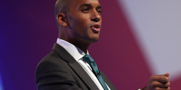 MANCHESTER, ENGLAND - OCTOBER 01:  Chuka Umunna MP speaks to delegates during the Labour Party Conference at Manchester Central on October 1, 2012 in Manchester, England. The shadow chancellor Ed Balls, is expected to unveil plans today to stimulate the economy using a GBP 3bn windfall from the sale of 4G mobile phone frequencies to build 100,000 affordable homes and give stamp duty breaks to first time buyers.  (Photo by Dan Kitwood/Getty Images)