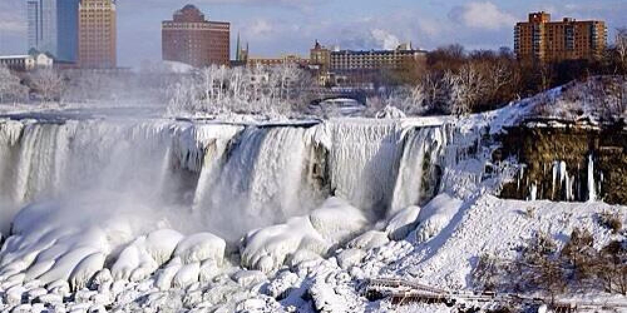 some frozen niagara falls photos really are too good to be true