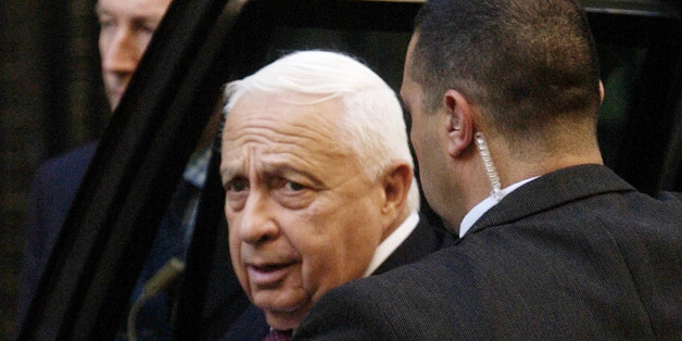 Israeli Prime Minister, Ariel Sharon at Downing Street, London