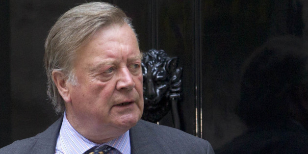 Ken Clarke MP leaves 10 Downing Street, central London.