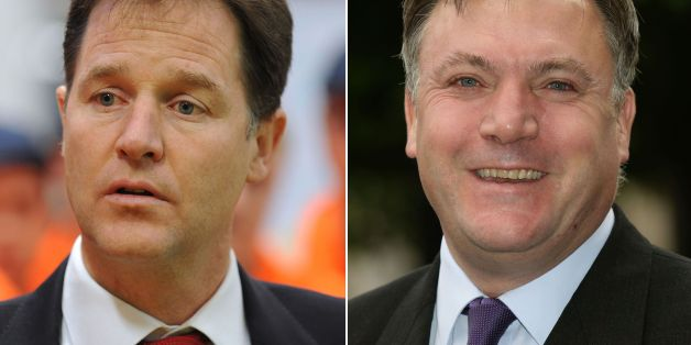 Embargoed to 1500 Wednesday December 25Undated file photos of Nick Clegg and Ed Balls (right). Clegg has said shadow chancellor Balls is the only politician with whom he has a personal feud.