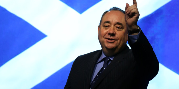 Scottish First Minister Alex Salmond during a press conference at St Andrews House in Edinburgh, after an agreement between the UK Government and the Scottish Government was signed for a referendum for the independence of Scotland.