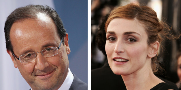 (FILE PHOTO) In this composite image a comparison has been made between Francois Hollande (L) and Julie Gayet. ***LEFT IMAGE***  BERLIN, GERMANY - MAY 15:  French President Francois Hollande speaks to the media following talks at the Chancellery hours after Hollande's inauguration in Paris on May 15, 2012 in Berlin, Germany. Hollande has come to Berlin to discuss the current European debt crisis with Merkel and most importantly to find common ground, as he hopes to resolve the crisis with measur