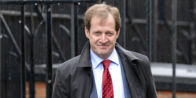 Alastair Campbell arrives to give evidence to the Leveson Inquiry at The Royal Courts of Justice, London.