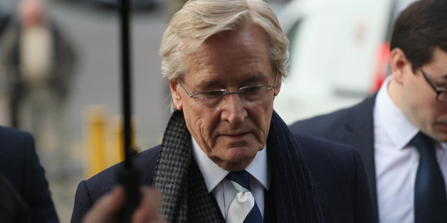 PRESTON, LANCASHIRE - JANUARY 14:  Coronation Street Star William Roache arrives at Preston Crown Court for the start of his trial of historical sexual offence allegations on January 14, 2014 in Preston, Lancashire. Coronation Street star Roache who plays the character Ken Barlow on the ITV soap, is charged with two counts of rape involving a 15-year-old girl. The offences allegedly took place between April and July 1967. Roache is also charged with five counts of indecent assault against four g