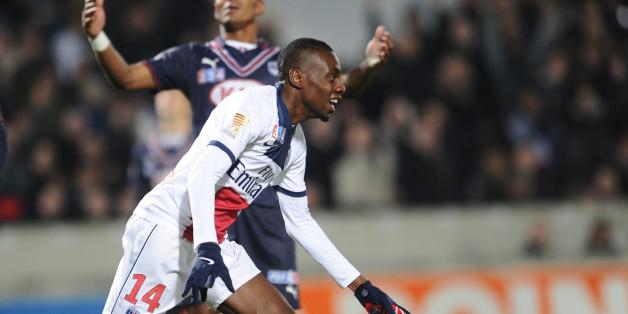 Matuidi celebrates his clincher at Bordeaux on Tuesday night