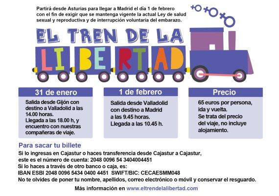 cartel tren de la libertad