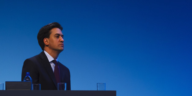Labour leader Ed Miliband speaks during the first day of Labour's annual party conference in Brighton.