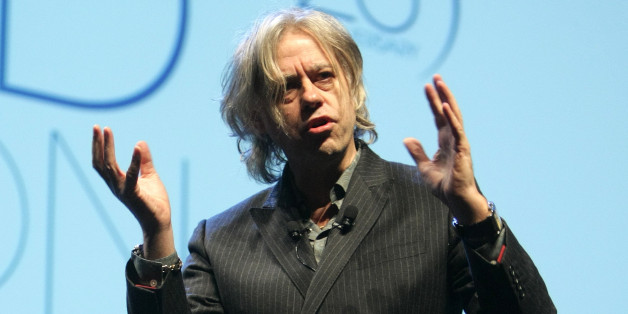 Irish humanitarian and singer Bob Geldof is seen during the 25th TFWA World Exhibition opening conference, in Cannes, southeastern France, Monday, Oct. 19, 2009.TFWA (Tax Free World Association) is a duty free and travel retail association.(AP Photo/Lionel Cironneau)