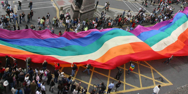 Members of Ireland's Gay and Lesbian communities take to the streets in their thousands for the annual Gay Pride parade through Dublin city centre.