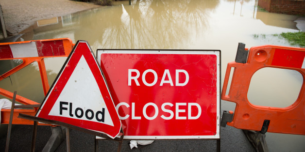 Areas next to the River Thames in Henley-on-Thames are flooded after the river burst its banks.