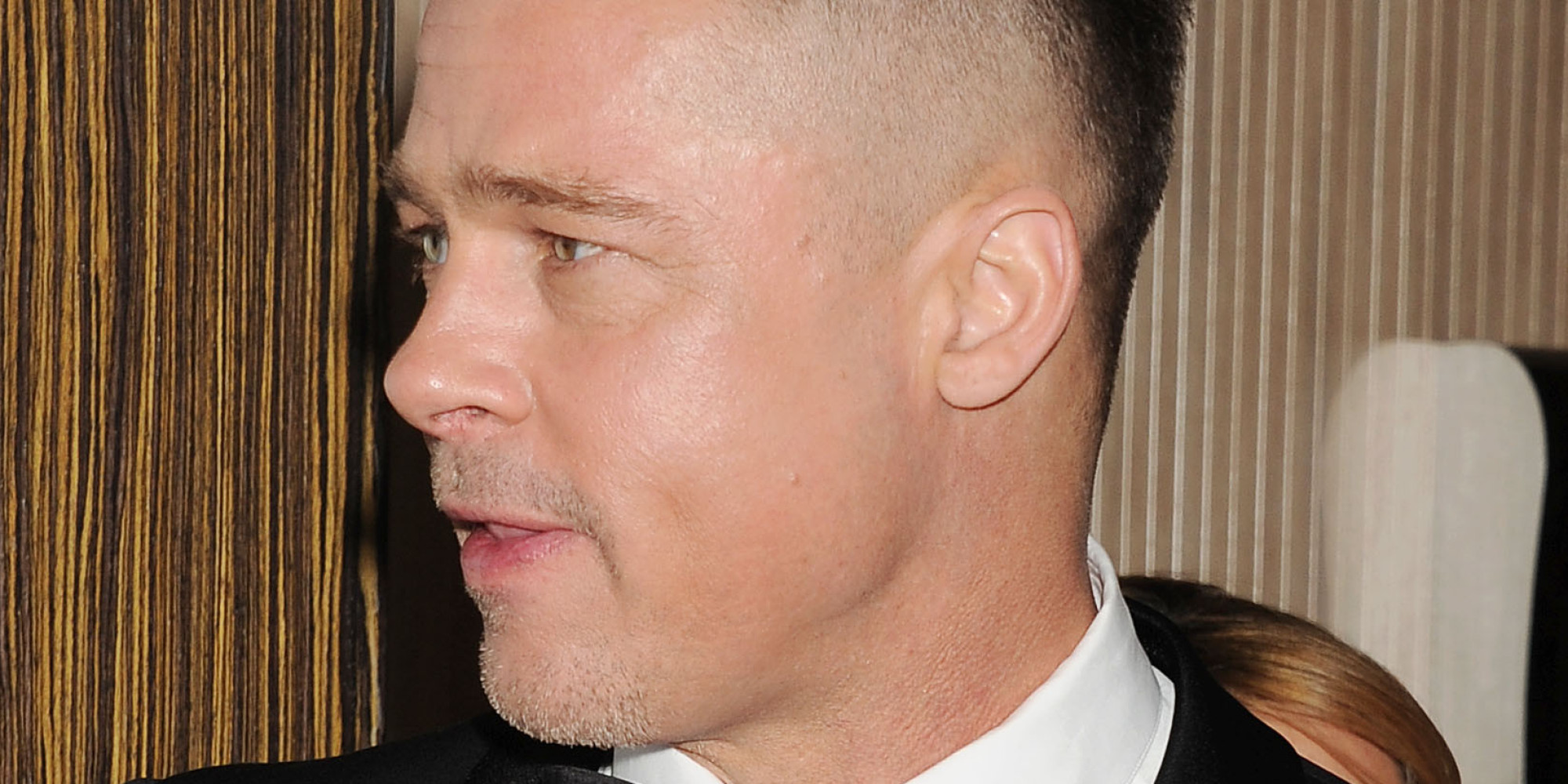 Brad Pitts New Hair Is For A Movie But Were Hoping Hell Keep It Good