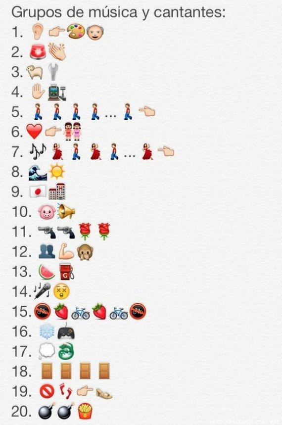 Grupos De Musica En Emojis De Whatsapp Juego De Adivinanzas Foto