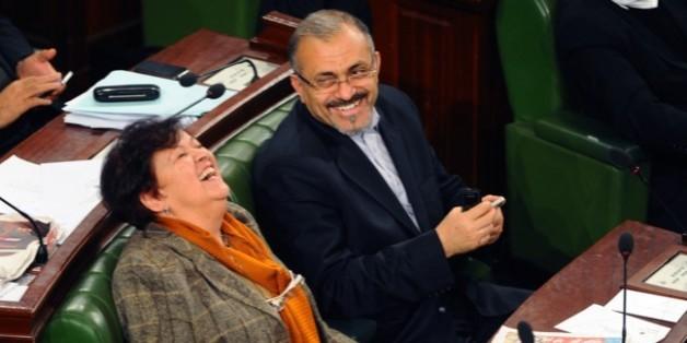 Ameur Larayedh et Selma Baccar à l'Assemblée.