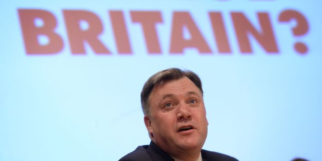 Shadow Chancellor Ed Balls speaking at the Fabian Society annual conference at the Institute of Education