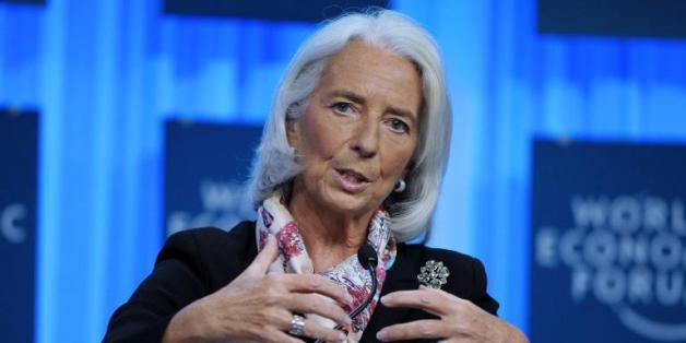 Christine Lagarde, Directrice générale du Fonds Monétaire International (FMI) au Forum de Davos 2014