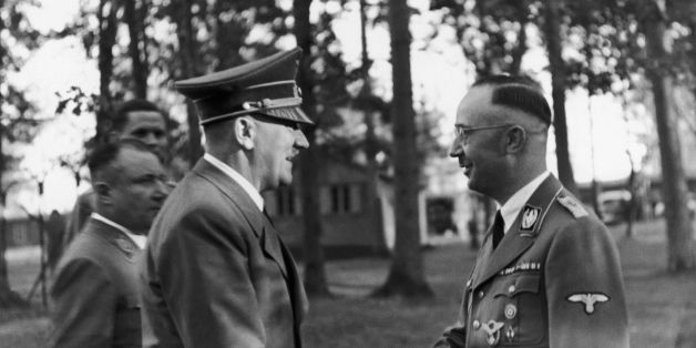 UNSPECIFIED - OCTOBER 13:  The Fuhrer Adolf Hitler Visiting His Headquarters And Congratulating Heinrich Himmler (Right), Head Of The Ss And The Gestapo, For His 43Rd Birthday, On October 13, 1943.  (Photo by Keystone-France/Gamma-Keystone via Getty Images)
