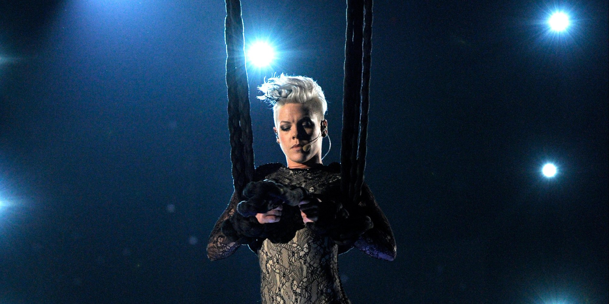 Pink Grammys Performance Singer Opens With Acrobatics, Joins Nate Ruess For Just -3651