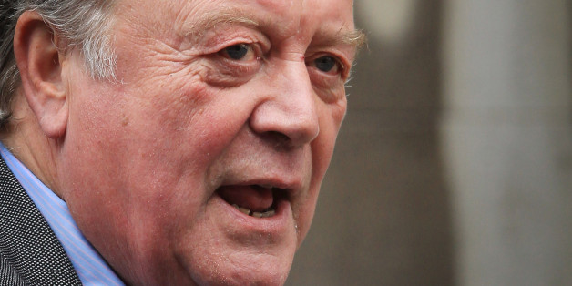 LONDON, ENGLAND - MAY 30:  Justice Secretary Ken Clarke arrives at The Royal Courts of Justice give evidence to The Leveson Inquiry on May 30, 2012 in London, England. This phase of the inquiry into the culture, practice and ethics of the press in the United Kingdom is looking at the relationship between the press and politicians. The inquiry, which may take a year or more to complete, comes in the wake of the phone hacking scandal that saw the closure of The News of The World newspaper in 2011.