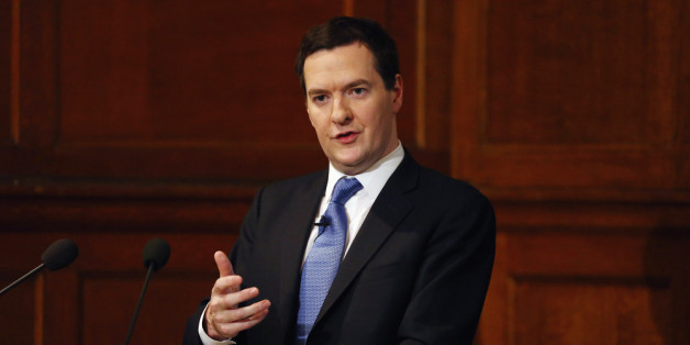 LONDON, ENGLAND - JANUARY 15:  Chancellor of the Exchequer George Osborne speaks on EU reform in central London on January 15, 2014 in London, England. Mr Osborne delivered a warning to Britain's European partners that it should undergo reform, halting decline by backing business and curbing welfare spending if the UK is to remain a part of Europe.  (Photo by Dan Kitwood/Getty Images)
