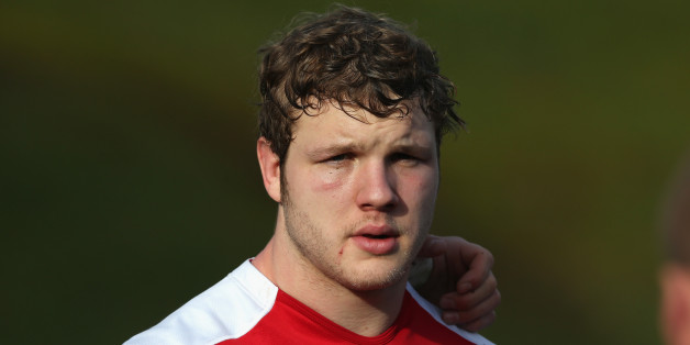 BAGSHOT, ENGLAND - JANUARY 28:  Joe Launchbury looks on during the England training session at Pennyhill Park on January 28, 2014 in Bagshot, England.  (Photo by David Rogers/Getty Images)