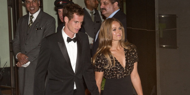 LONDON, UNITED KINGDOM - JULY 07: Andy Murray and Kim Sears sighting at the InterContinental Park Lane Hotel on July 7, 2013 in London, England. (Photo by Niki Nikolova/FilmMagic)