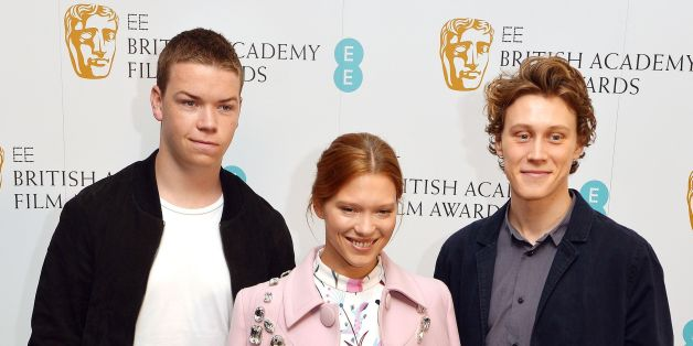 (Left to right) Will Poulter, Lea Seydoux and George MacKay at the BAFTA (British Academy of Film and Television Arts) press conference, to announce them as three of five nominees for the EE rising star award 2014, at the BAFTA building in central London.