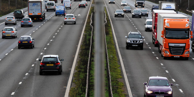 "File photo dated 07/01/14 of vehicles on the M1 motorway as car insurance premiums plunged by a record rate of 14.1\% over the last year amid a ""more fiercely competitive market"" and expectations that more bogus whiplash claims will be weeded out."