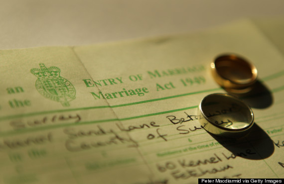 marriage certificate uk