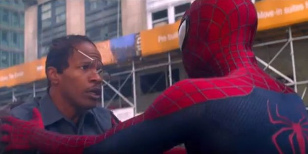 Jamie Foxx's Magneto comes face-to-face with Andrew Garfield's Spider-Man