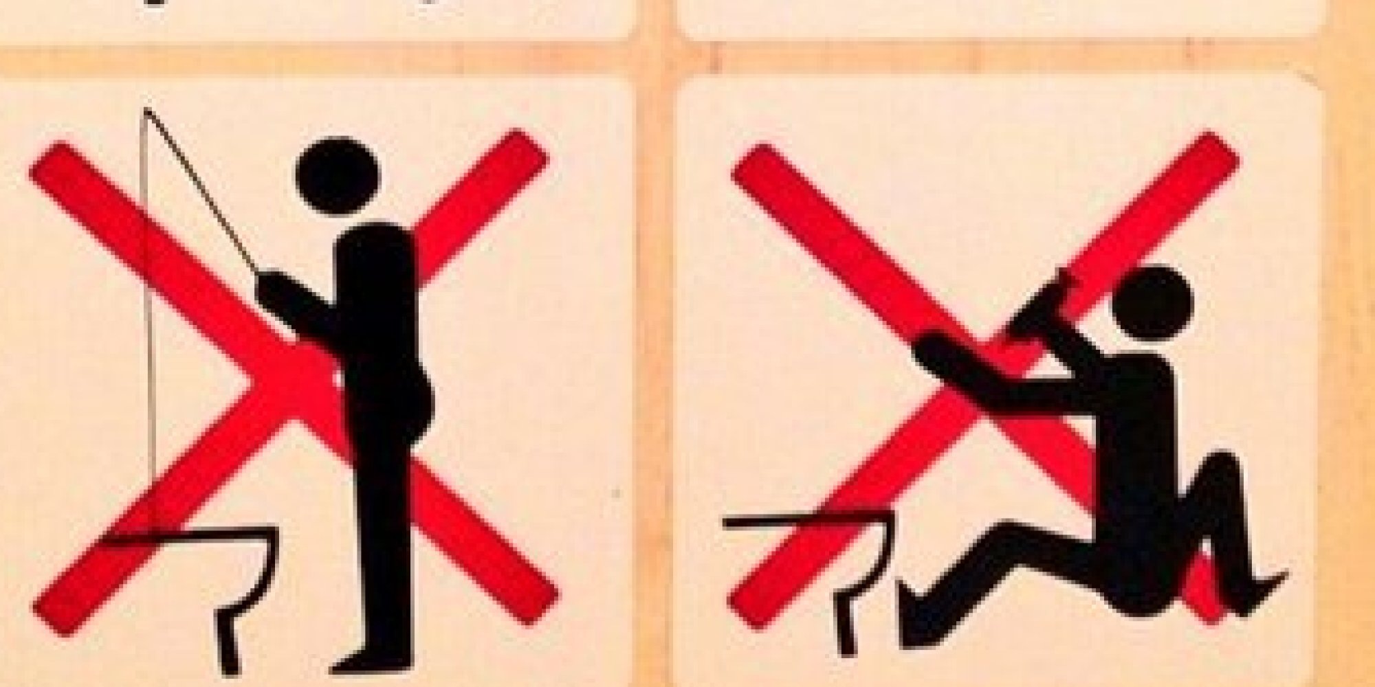 Sochi Bathroom Signs Forbid Fishing Upper Deckers In Olympic