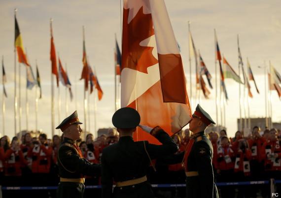 canadian flag sochi