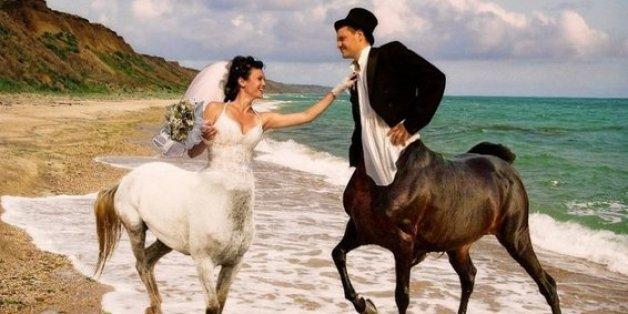 Skurrile Russische Hochzeitsbilder Am Rande Der Geschmacklosigkeit