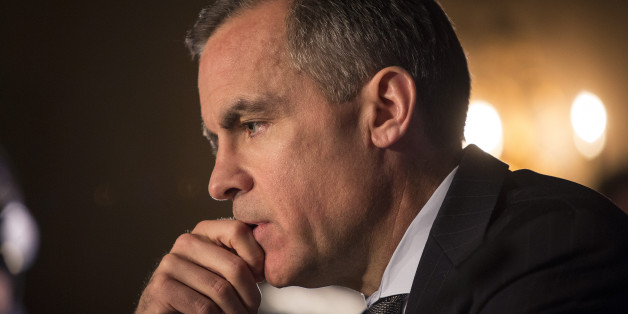Mark Carney, governor of the Bank of England, pauses during a news conference in Edinburgh, U.K., on Wednesday, Jan. 29, 2014. Scotland will probably need to mirror the euro-region's integration plans and surrender some sovereignty if the nation votes to separate from the rest of the U.K., Carney said. Photographer: Simon Dawson/Bloomberg via Getty Images
