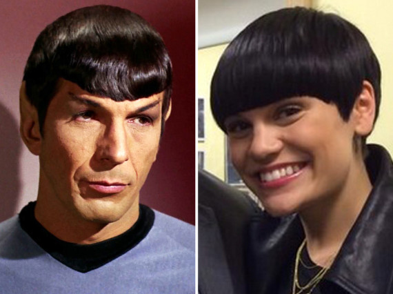 Jessie J Hairstyle: Jessie J Channels Star Trek's Spock With New Hair