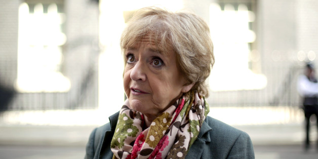 Margaret Hodge MP outside No 10 Downing Street, central London, after handing in a petition - signed by more than 110,000 people - calling on internet retailer Amazon to pay their fair share of UK tax.