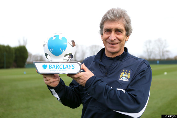 manuel pellegrini manager of the month