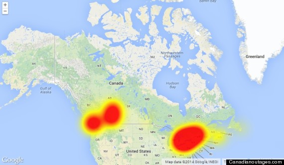 telus outage map