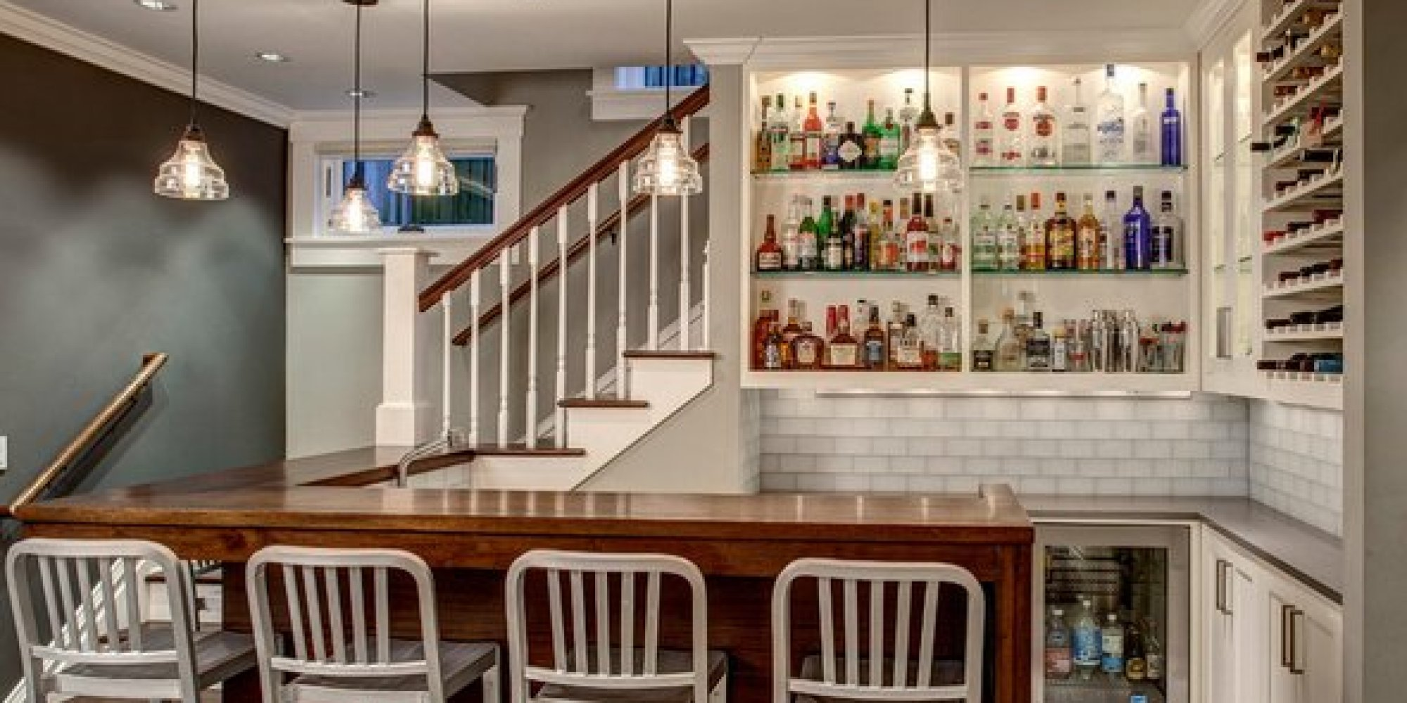 Modern Basement Wet Bar.  The 19 Coolest Things To Do With A Basement PHOTOS HuffPost