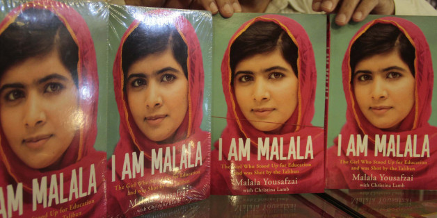 ISLAMABAD, PAKISTAN - OCTOBER 8: Pakistani teenager activist Malala Yousafzai's book, 'I Am Malala' seen in a bookstore on October 8, 2013, in Islamabad, Pakistan, on the eve of the first anniversary of an attack on her by Taliban. Malala Yousafzai, an activist for girls' education and a contender to win the Nobel Peace Prize later this week, The autobiography ''I Am Malala'' written with the British journalist Christina Lamb published around the world on Tuesday. (Muhammad Reza - Anadolu Agency