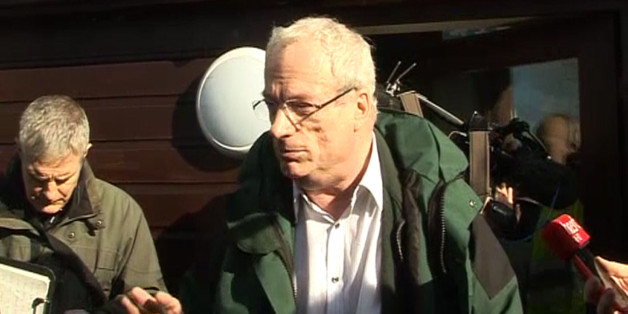 A video still of Lord Smith during his visit to the flood-stricken Somerset levels today as the beleaguered peer refused to quit as chairman of the Environment Agency.