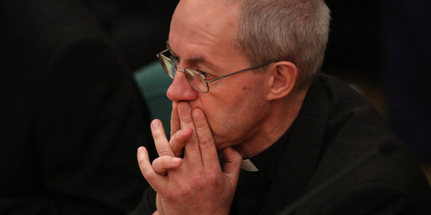 Justin Welby, the Archbishop of Canterbury during the General Synod at Church House