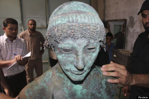 greek god apollo statue gaza strip