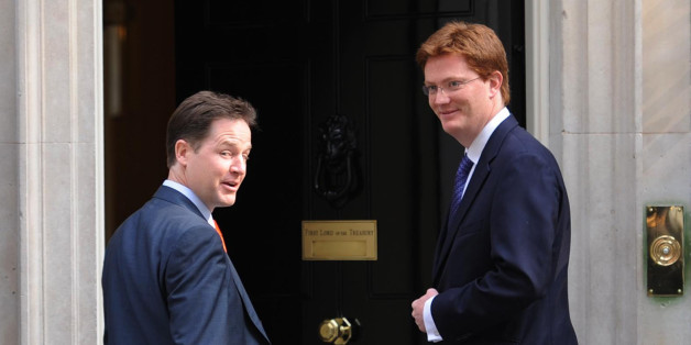 Deputy Prime Minister Nick Clegg (left)and Scottish Secretary Danny Alexander arrives in Downing Street for cabinet meeting before the state opening of parliament.